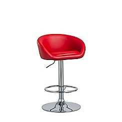 Debenhams - Red 'Pittsburgh' gas lift bar stool