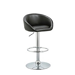Debenhams - Black 'Pittsburgh' gas lift bar stool
