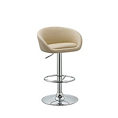 Debenhams - Cream 'Pittsburgh' gas lift bar stool