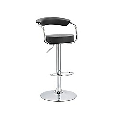 Debenhams - Black 'Miami' gas lift bar stool