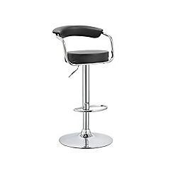 Debenhams - Black 'Miami' gas lift bar stool