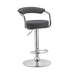 Debenhams - Grey 'Miami' gas lift bar stool