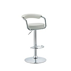 Debenhams - White 'Miami' gas lift bar stool