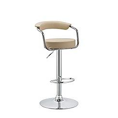 Debenhams - Cream 'Miami' gas lift bar stool