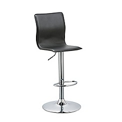 Debenhams - Black 'Madison' gas lift bar stool