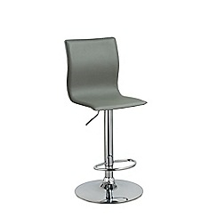 Debenhams - Grey 'Madison' gas lift bar stool