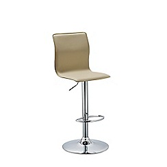 Debenhams - Cream 'Madison' gas lift bar stool