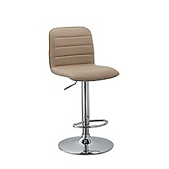 Debenhams - Beige 'Portland' gas lift bar stool