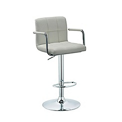 Debenhams - White 'Matrix' gas lift bar stool