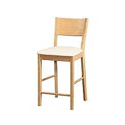 Debenhams - Pair of wooden 'Torino' bar stools