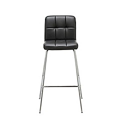 Debenhams - Black 'Matrix' static barstool