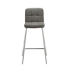 Debenhams - Light grey felt 'Matrix' static barstool