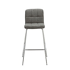 Debenhams - Dark grey tweedy weave 'Matrix' static barstool