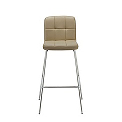 Debenhams - Cream 'Matrix' static barstool