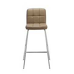 Debenhams - Taupe 'Matrix' static barstool