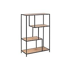 Debenhams - Brown 'Seaford' asymmetric small bookcase