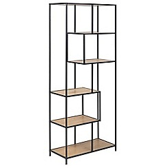 Debenhams - Brown 'Seaford' asymmetric large bookcase