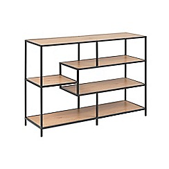 Debenhams - Brown 'Seaford' asymmetric low bookcase