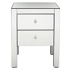 Debenhams - 'Mirrored' bedside cabinet with 2 drawers