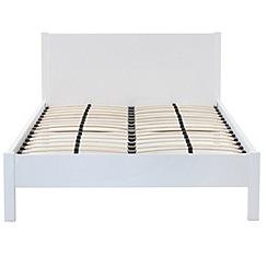 Debenhams - White gloss 'Maxi' king-size bed frame