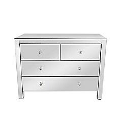 Debenhams - 'Mirrored' 4 drawer chest