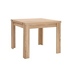 Debenhams - Washed white oak effect 'Cleves' flip-top table
