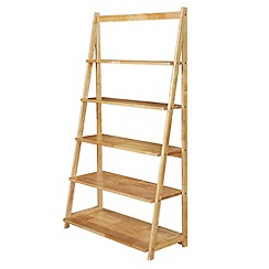 Debenhams - Oak 'Fenton' wide open shelving unit