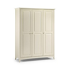Debenhams - Soft white 'Barcelona' triple wardrobe