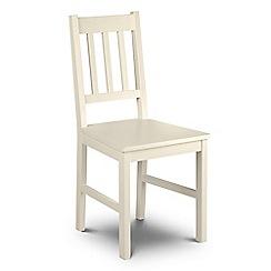 Debenhams - Soft white 'Barcelona' chair