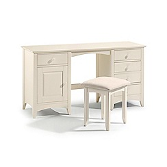 Debenhams - Soft white 'Barcelona' dressing table with stool