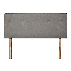 Sleepeezee - Light grey flat weave 'Dot' headboard