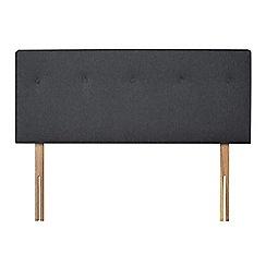 Sleepeezee - Dark grey flat weave 'Dot' headboard