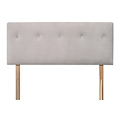 Sleepeezee - Light grey plush velvet 'Dot' headboard