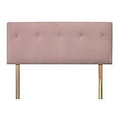 Sleepeezee - Light pink plush velvet 'Dot' headboard