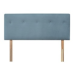 Sleepeezee - Light blue plush velvet 'Dot' headboard