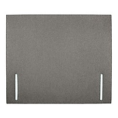 Sleepeezee - Light grey flat weave 'Quince' headboard