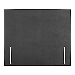 Sleepeezee - Dark grey plush velvet 'Quince' headboard