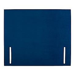 Sleepeezee - Navy plush velvet 'Quince' headboard