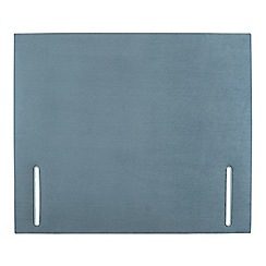 Sleepeezee - Light blue plush velvet 'Quince' headboard