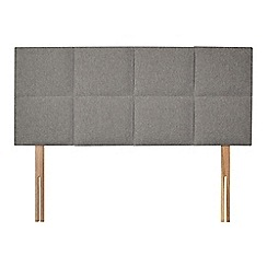 Sleepeezee - Light grey flat weave 'Choc' headboard