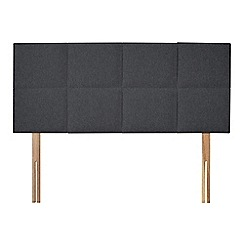 Sleepeezee - Dark grey flat weave 'Choc' headboard