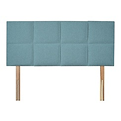 Sleepeezee - Light blue flat weave 'Choc' headboard