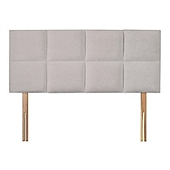 Sleepeezee - Light grey plush velvet 'Choc' headboard