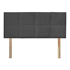 Sleepeezee - Dark grey plush velvet 'Choc' headboard