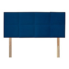 Sleepeezee - Navy plush velvet 'Choc' headboard