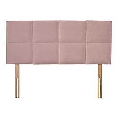 Sleepeezee - Light pink plush velvet 'Choc' headboard