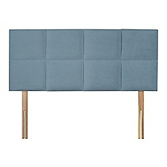 Sleepeezee - Light blue plush velvet 'Choc' headboard