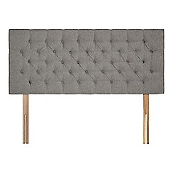 Sleepeezee - Light grey flat weave 'Button' headboard