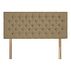 Sleepeezee - Camel flat weave 'Button' headboard