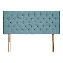 Sleepeezee - Light blue flat weave 'Button' headboard